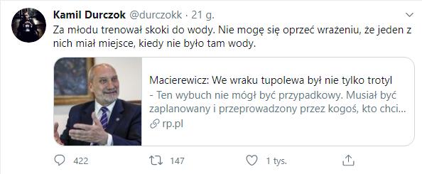 Durczok o Macierewiczu