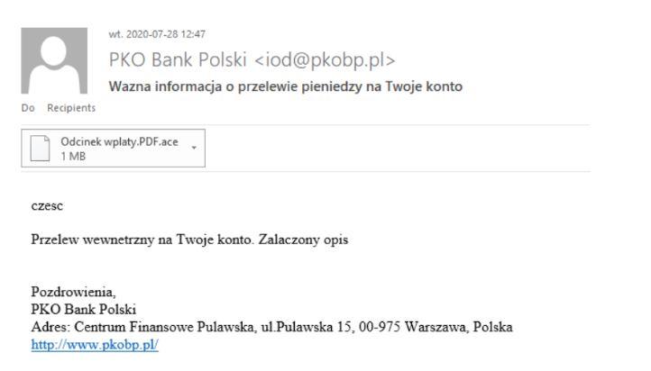 PKO BP komunikat