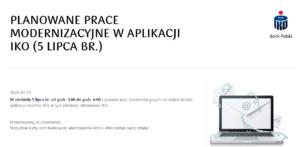 komunikat PKO BP